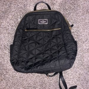 Black Quilted Kate spade Backpack